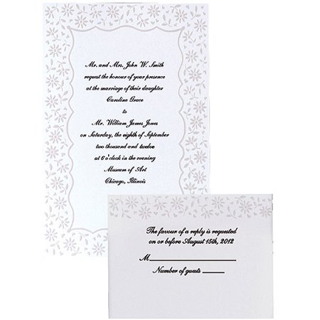 Wedding Invitation Kit Flirty Fleur 50 Ct 1008 525