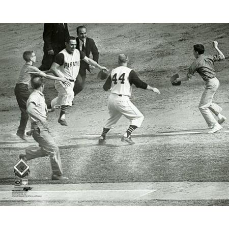 Bill Mazeroski Walk-Off Home Run Game 7 of the 1960 World Series Photo (1960 World Series Game 7 Box Score)