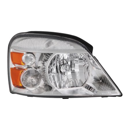 VIPMOTOZ Chrome Housing OE-Style Headlight Headlamp Assembly For 2004-2007 Ford Freestar