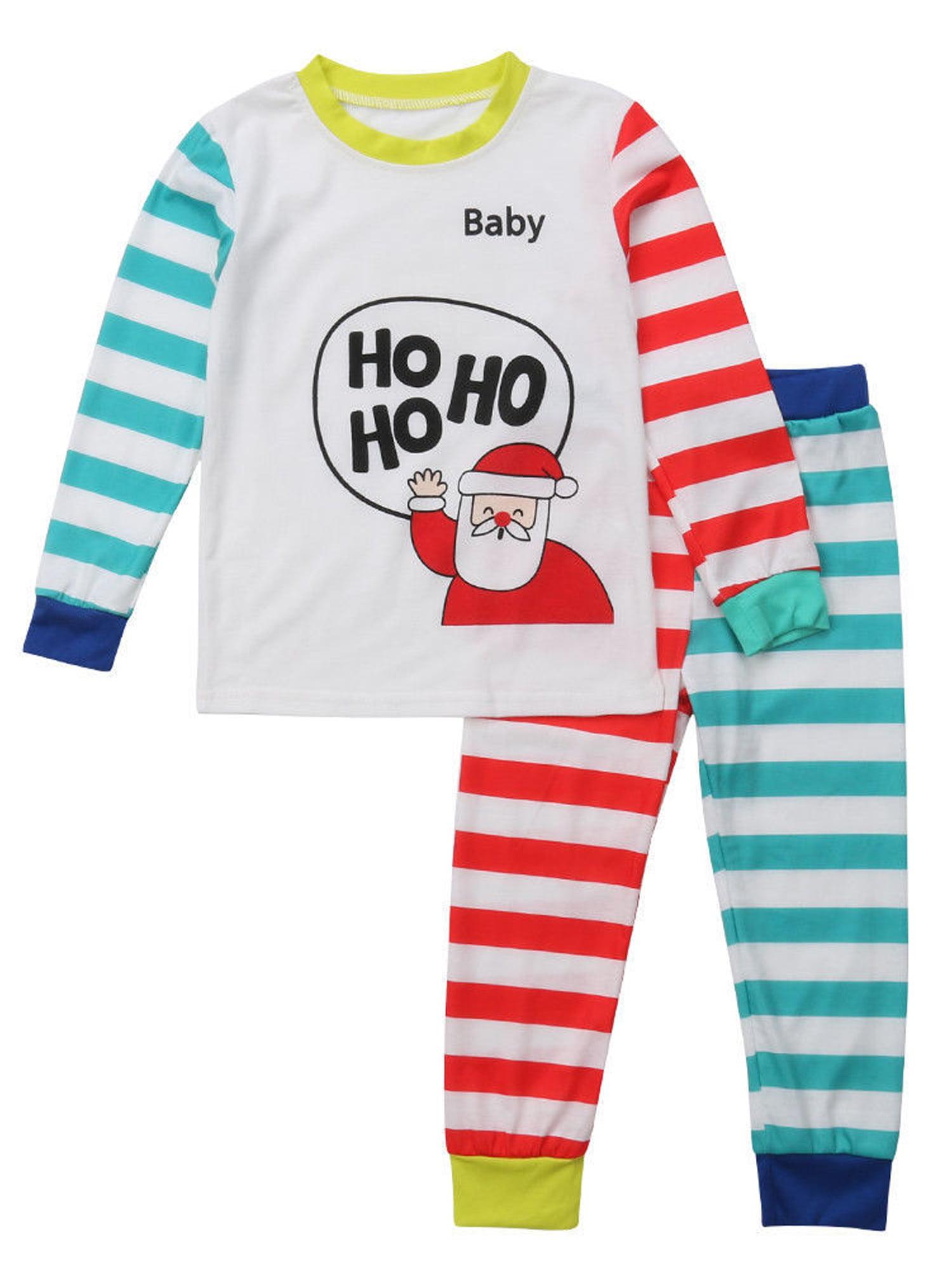 Toddler Kid Boys Girls Christmas pajama T shirt+long pants