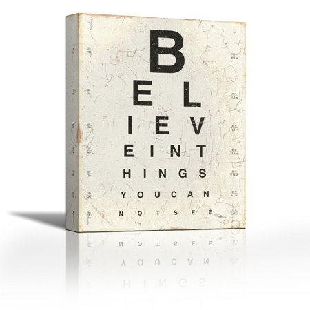 Eye Chart I Contemporary Fine Art Giclee On Canvas Gallery Wrap Wall Décor Painting 18 X 24 Inch Ready To Hang