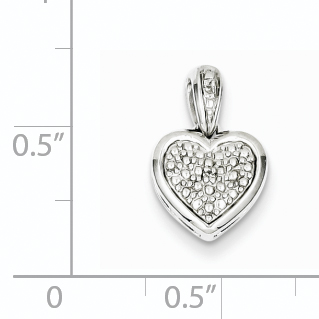 925 Sterling Silver Diamond Heart Pendant Charm Necklace Fine Jewelry Gifts For Women For Her - image 1 of 2
