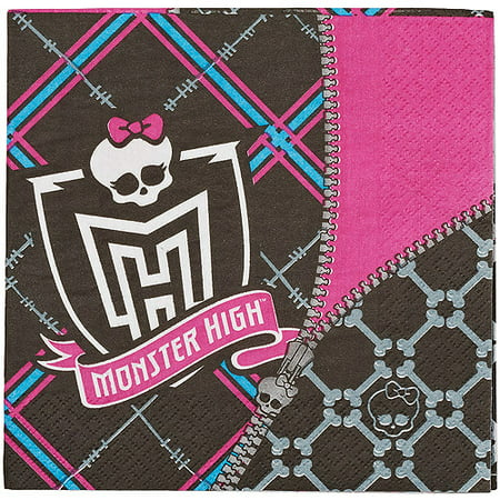 Monster High Lunch Napkins, 16 Count, Party Supplies
