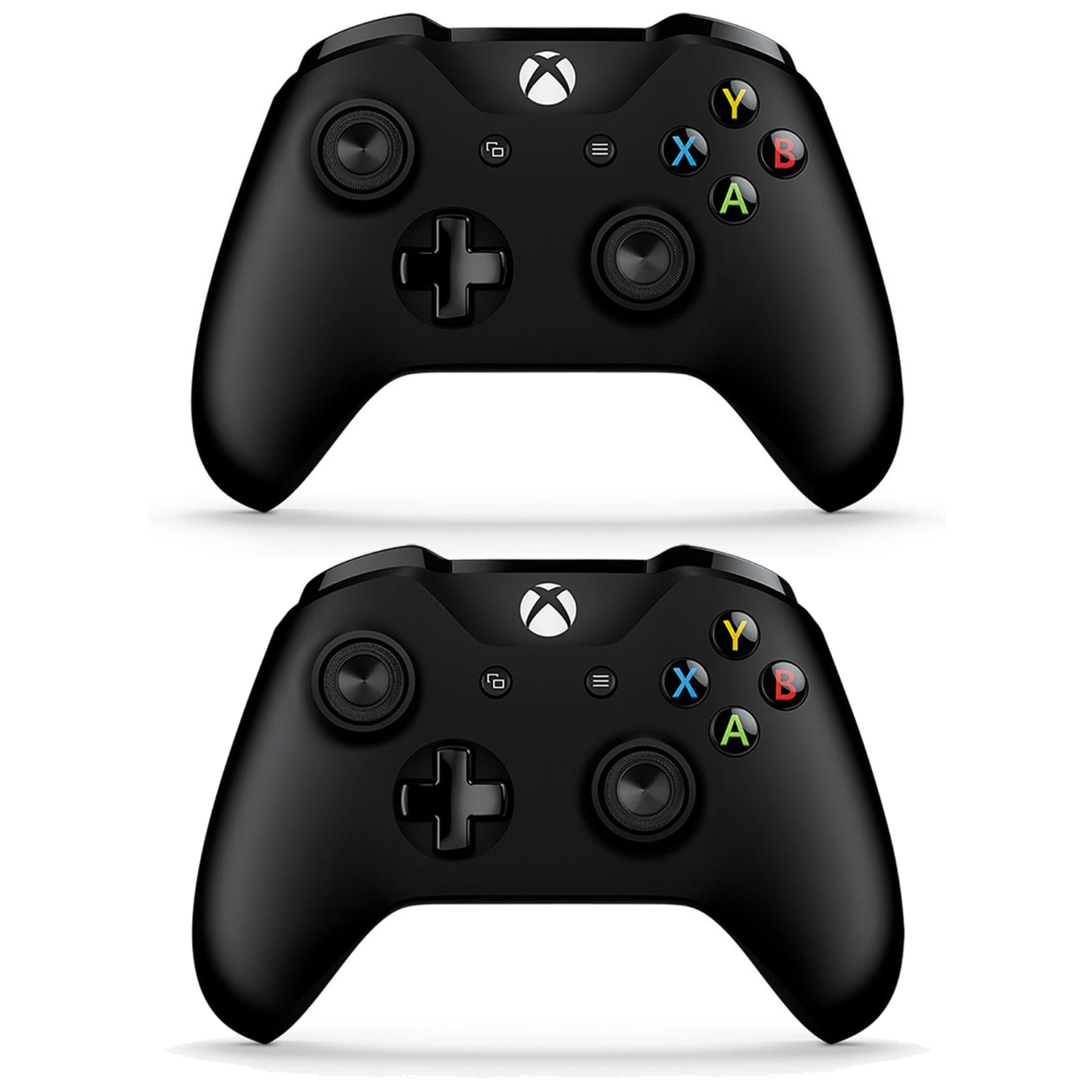 2 Pack Microsoft Xbox One S Bluetooth Wireless Controller Black 6CL-00001 by Microsoft