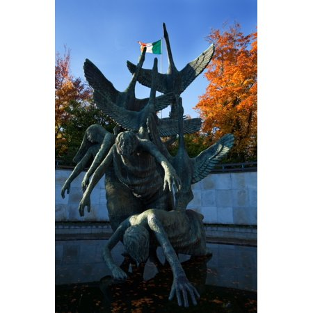 Sculpture Of The Children Of Lir Parnell Square Dublin Ireland Poster Print