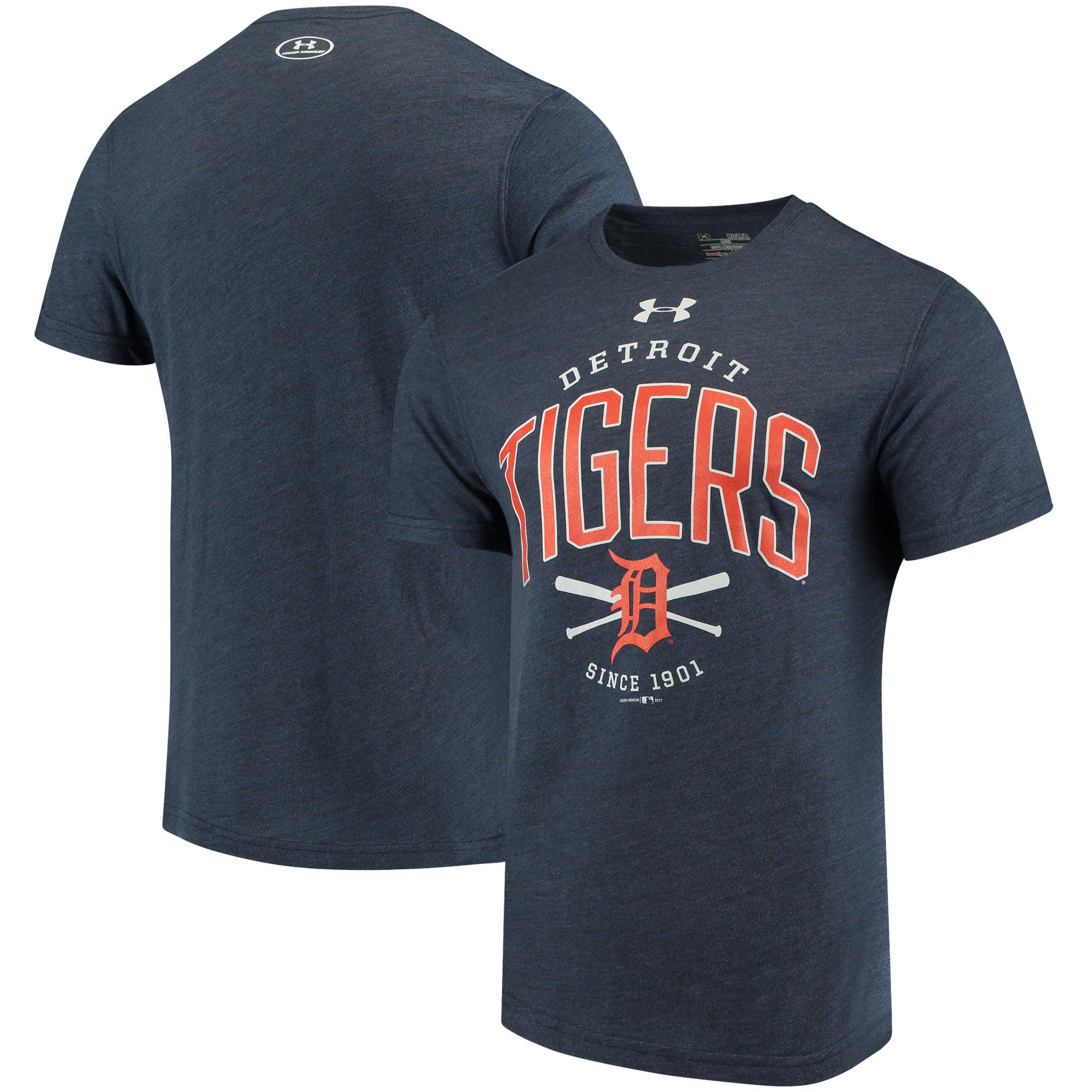 Detroit Tigers Under Armour Team Logo Tri-Blend T-Shirt - Navy