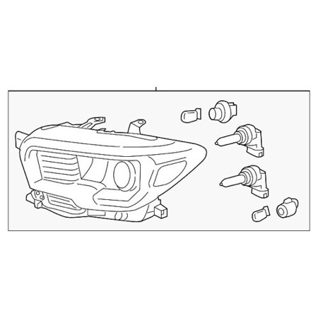 Go-Parts » 2016 Toyota Tacoma Headlight Headlamp Assembly