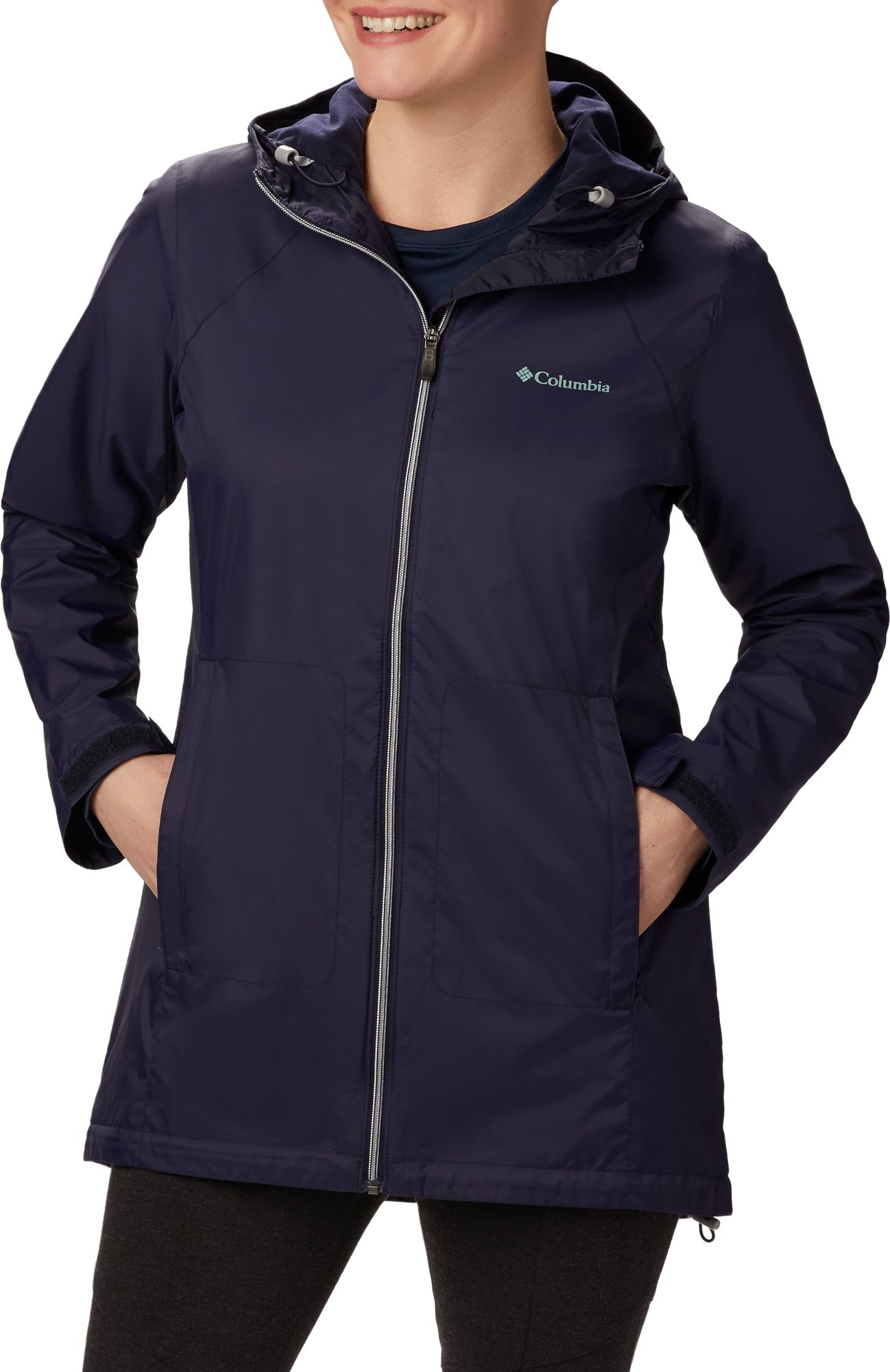 Columbia Womens Switchback Lined Long Jacket w// Waterproof Shell
