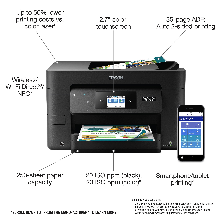 Epson - WorkForce Pro WF-4720 Wireless All-In-One Printer