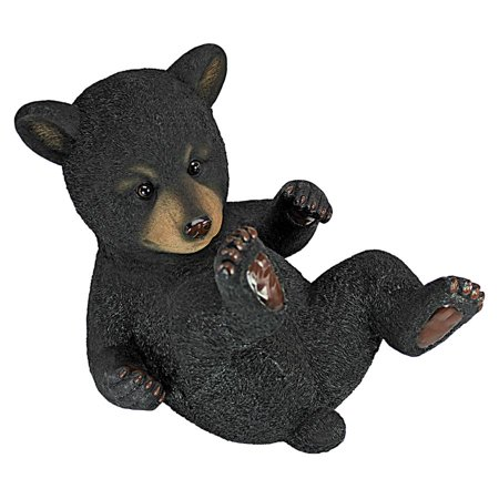Roly-Poly Bear Cub Statue: Rolling Bear
