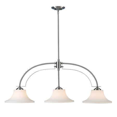 Feiss Barrington Island Light - 44W in. Brushed Steel ()