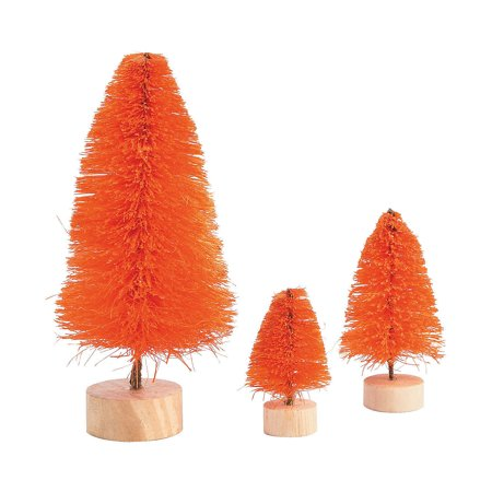 Fun Express - Orange Sisal Tree Assortment for Halloween - Craft Supplies - Bulk Craft Accessories - Misc Bulk Craft Accessories - Halloween - 6 Pieces](Bulk Cheesecloth Halloween)