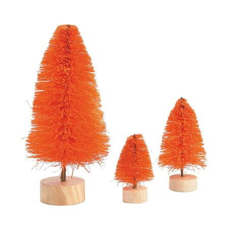 Fun Express - Orange Sisal Tree Assortment for Halloween - Craft Supplies - Bulk Craft Accessories - Misc Bulk Craft Accessories - Halloween - 6 Pieces - Halloween Bulk