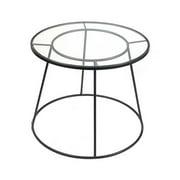 Sagebrook Home Metal & Glass End Table