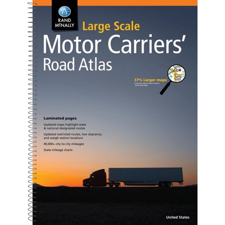 Rand mcnally large scale motor carriers' road atlas: 9780528013232 Deluxe Motor Carriers Road Atlas