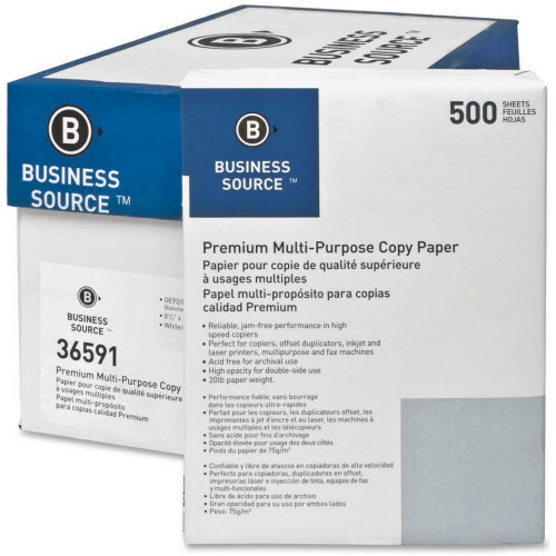 Business Source Copy Paper 5000 Sheet
