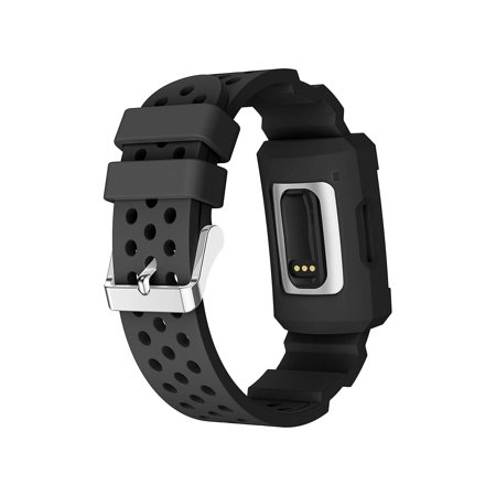 Wristband For Fitbit Charge 3, EEEKit Silicone Sport Rugged Replacement Band With Shockproof Protector Case Compatible with Fitbit Charge 3