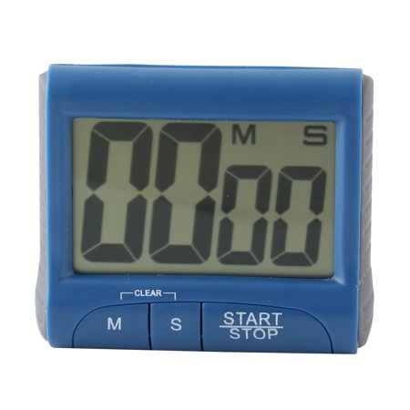 Digital Large LCD display Timer, Electronic Countdown Alarm Kitchen Timer, Blue](New Years Countdown Timer)