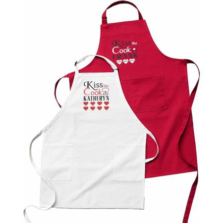Personalized Kiss the Cook Kitchen Apron