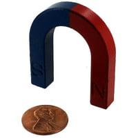 Red-Blue Ceramic Horseshoe Magnet
