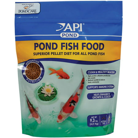 Api aquarium pharmaceuticals 198g 9 3 lb pond fish food for Pond fish food