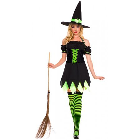 Holly Dark Witch Adult Costume - Medium/Large