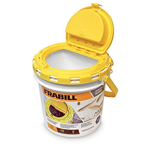 4822 Insulated Bait Bucket, Aerated for cold Fishing hot 6Gallon Insulated Leech Bait MINO2LIFE AquaLife and OrangeWhite weather Worm 4822 4745 Lodge.., By Frabill