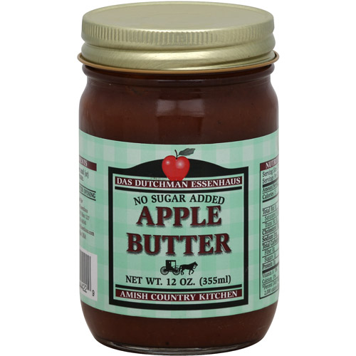 Das Dutchman Essenhaus No Sugar Added Apple Butter, 12 oz, (Pack of 12)