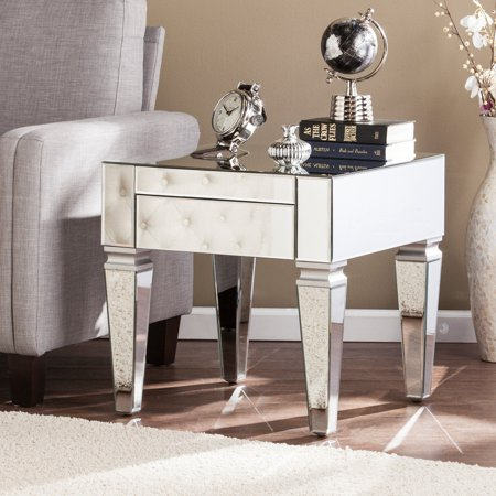 Southern Enterprises Darien Contemporary Mirrored Rectangular Cocktail Table ()