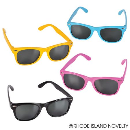 Neon Kiddie Toy Sunglasses - Party Favors, School Drama Plays, DJ Dance Party, Summer Bashes, Tropical Hawaiian, Costuming , Halloween Pretrend, Easter Basket Fillers (Pack of 12) - San Francisco Halloween Dance Party