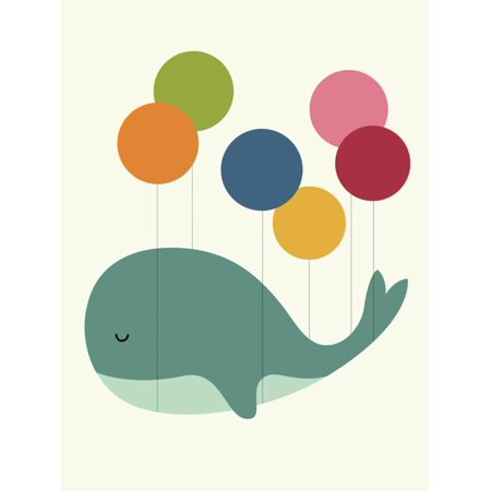 - Dream Walker Graphic Whimsical Whale Artwork Childrens Kids Nursery Decor Print Wall Art By Andy Westface