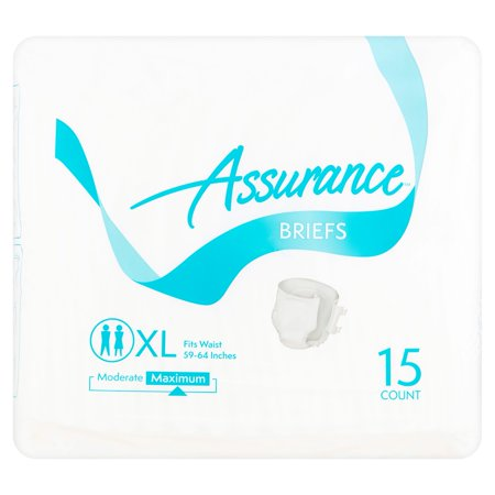 Assurance Incontinence Briefs Unisex  Maximum  Xl  15 Ct