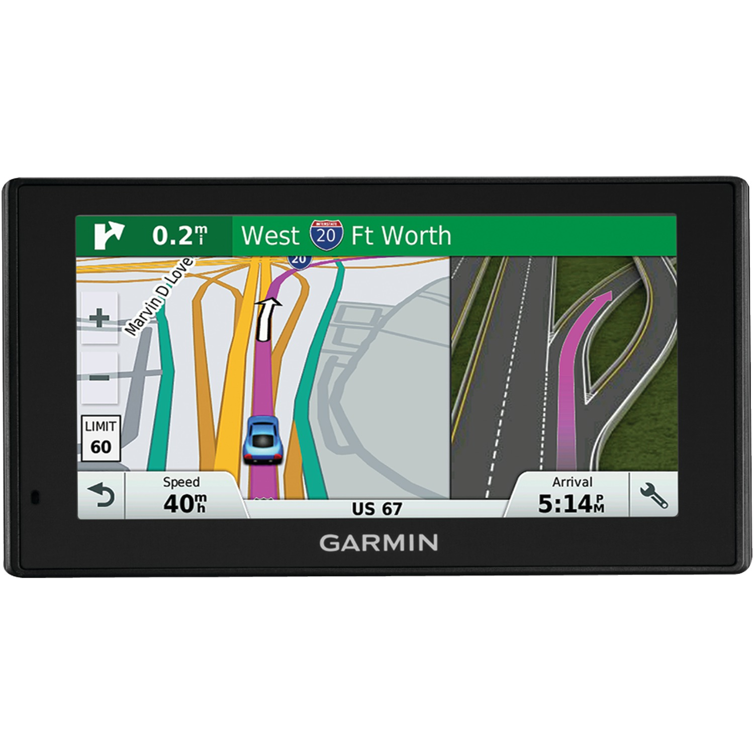 "Garmin 010-01540-01 Drivesmart 60lmt 6"" Gps Navigator With Bluetooth & Free Lifetime Maps & Traffic Updates"
