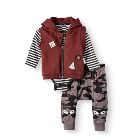 Vest and Camo Pant 3 Piece Outfit Set (Baby Boys) ()