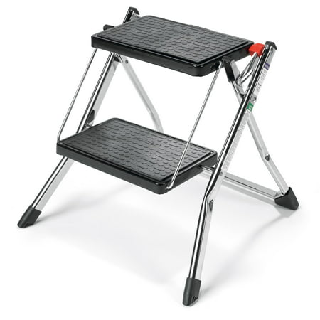 Polder 2 Step Stool Without Rail, Chrome