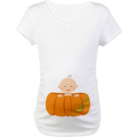 189084002e93c Novelty & More Novelty CafePress Halloween Baby Bump Maternity Maternity Tee