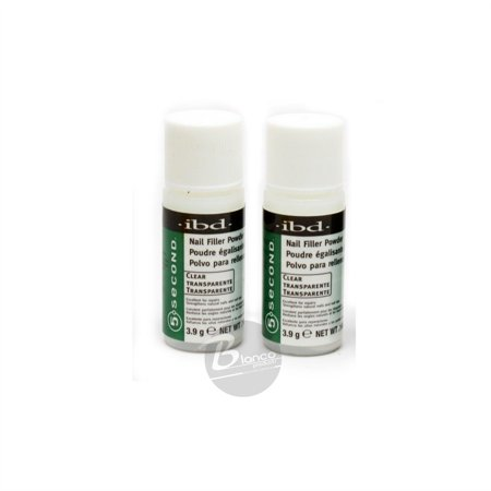 (IBD 5 Second Clear Nail Filler Powder 3.9g (Pack Of 2))