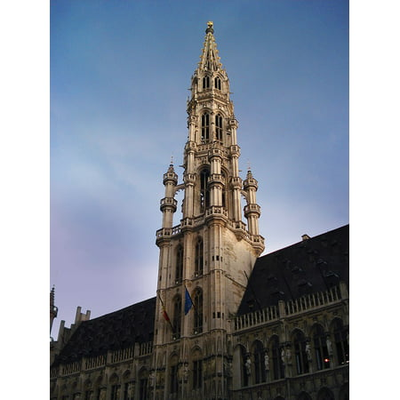 LAMINATED POSTER Architecture Belgium Brussels Grand Place Tower Poster Print 24 x 36 Brussels Grand Places House