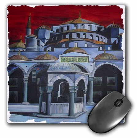 (3dRose Sultan Ahmed Mosque - istanbul, islamic, sultan ahmed mosque, mosque, sultanahmet camii, blue mosque, Mouse Pad, 8 by 8 inches)