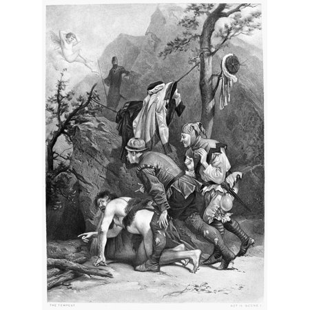 Shakespeare Tempest Nled By Caliban Trinculo And Stephano Plan To Enter ProsperoS Cell And Murder Him (Act Iv Scene I) From William ShakespeareS Play Photogravure After A Painting By Alonzo Chappel Ro