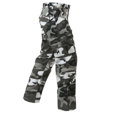 Baggy City Camo Cargo Pants, with 8 Pockets - Walmart.com