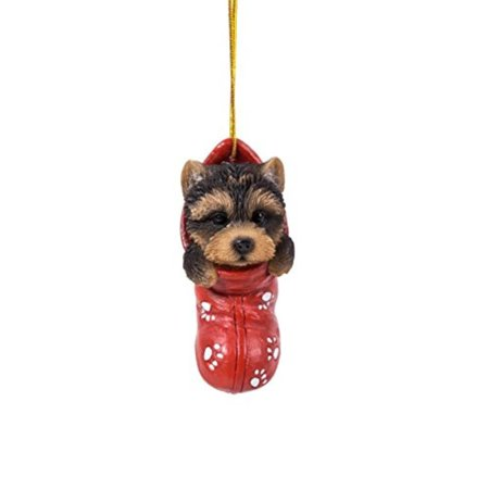 Yorkie Puppy Decorative Holiday Festive Christmas Hanging Ornament By Pacific Giftware