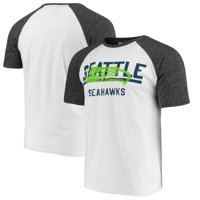 Seattle Seahawks G-III Sports by Carl Banks Heritage Raglan Tri-Blend T-Shirt - White/Heathered Gray