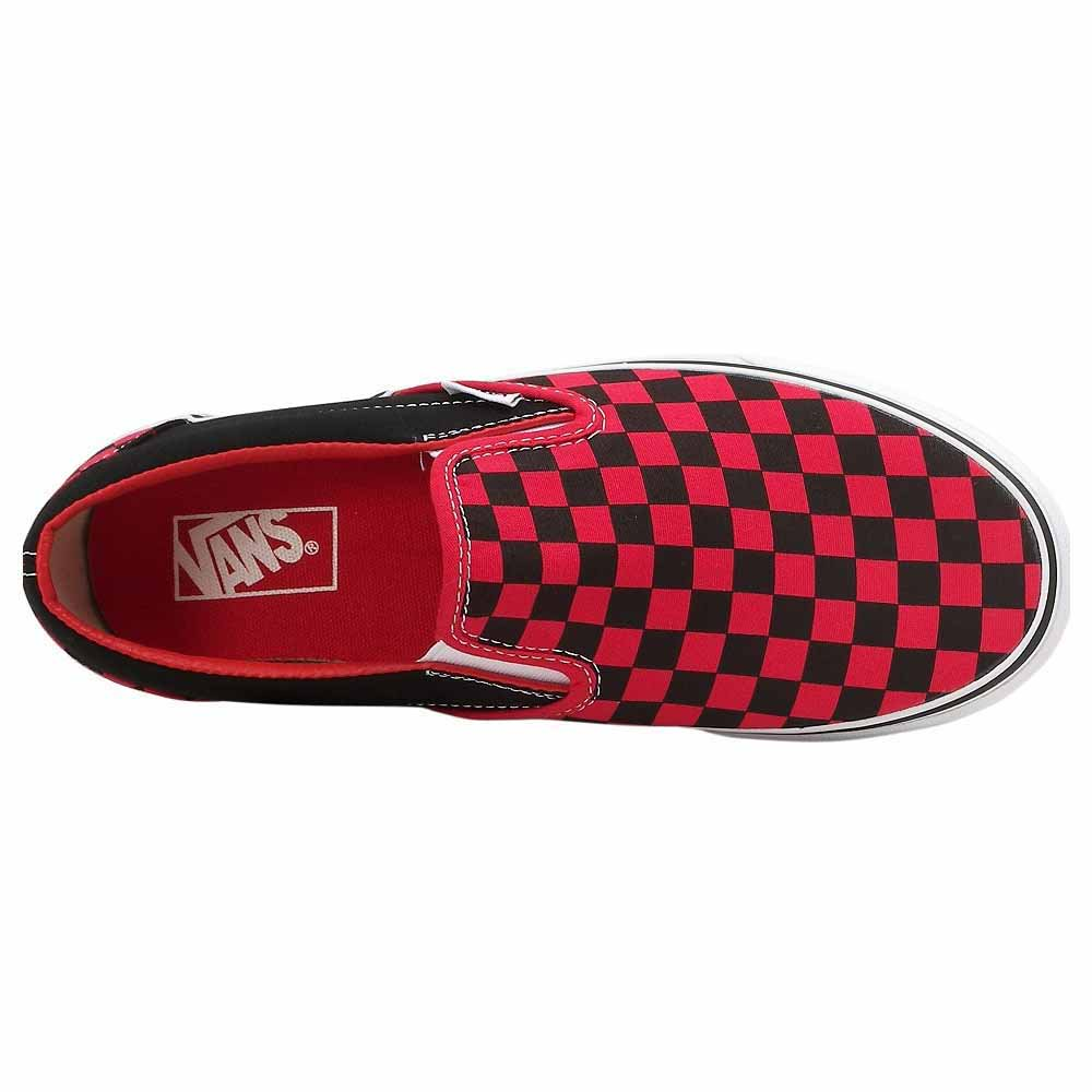 7e73c2036a0bc9 Vans - Vans Unisex Adult Checkerboard Slip-On Black Red Check Mens 7 ...