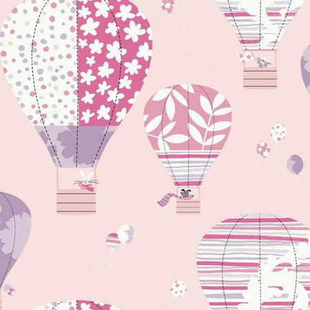 York Wallcoverings Peek A Boo Hot Air Balloon Wallpaper