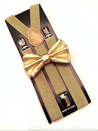 Tan color Bow Tie /& Suspender Set Tuxedo Wedding Formal Men/'s Accessories