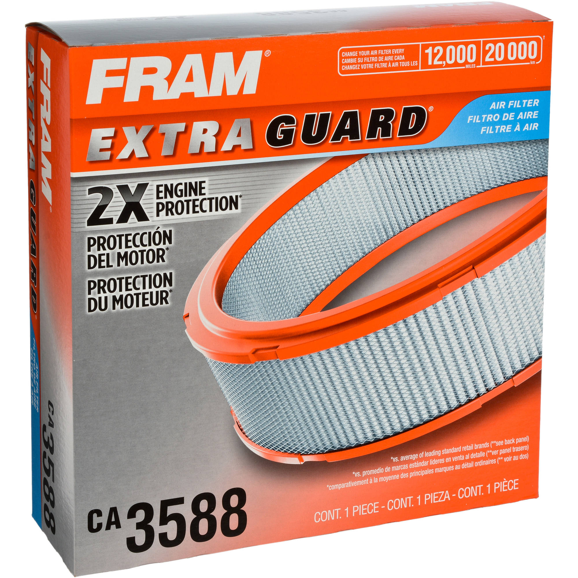 FRAM Extra Guard Air Filter, CA3588