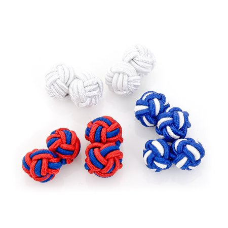Men's Cufflinks Inc Silk Knot Cufflinks