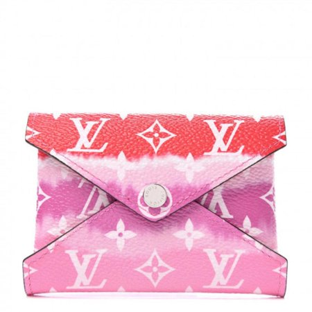 Louis Vuitton Pink Tye Dye Monogram Escale Small Kirigami Pochette Insert Red 859550