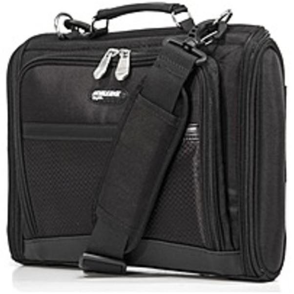 "Refurbished Mobile Edge Express Carrying Case (Briefcase) for 14.1"" Chromebook - Black - 1680D Ballistic Nylon - Shoulder Strap, Handle - 10.5"" Height x 15"" Width x 3"" Depth"